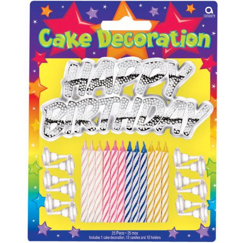 METALC HAPPY BDAY CAKE DEC KIT