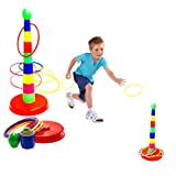"Toy Cubby Plastic 18"" Tower and Ring Toss Game - 1 Set"