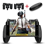 FengNiao Mobile Game Controller, 1 Pair Survival Game Triggers and 1 Pair Mobile Game Controller for Knives Out/PUBG/Rules of Survival, Mobile gamepad for 4.5-6.5inch Android IOS Phones (Color: Mobile Game triggers+controllers-01)