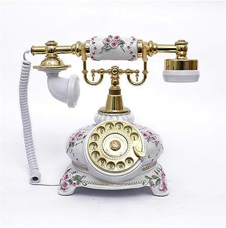 JJH-ENTER Rotary Pastoral Antique Téléphone / Platine Vintage Continental Téléphone / Creative Fashion