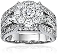 10k White Gold Diamond Engagement Rin…