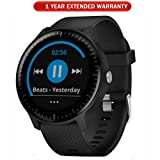 Garmin Vivoactive 3 Music GPS Smartwatch Black and Gunmetal (010-01985-01) with 1 Year Extended Warranty (Tamaño: vivoactive 3 Music)