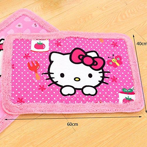Cute Hello Kitty Children's Door Mat Bedroom Mat Pink (B)