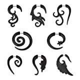IPINK Horn Spiral Stretcher Angel Wing Piercing Taper Fake Plug Twist Pack of 8
