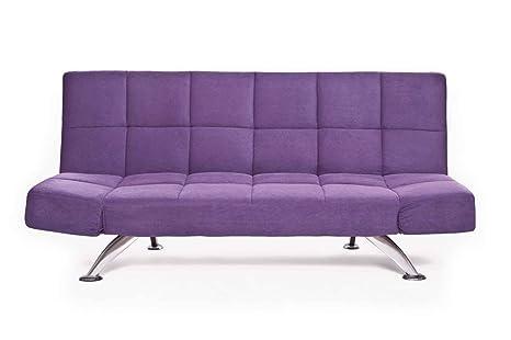 Sofá cama sofá-cama de sofá de sueño de sofá de colour púrpura de cuero de la PU de sofá