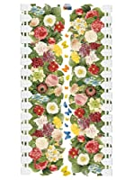 Ambiance Live Vinilo Decorativo Lowering hedge and butterflies Multicolor