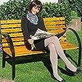 Bank, Parkbank, Gartenbank, Sitzbank, 2-sitzer 123 cm breit, Holzbank von JOM Car Parts & Car Hifi GmbH auf Gartenmöbel von Du und Dein Garten