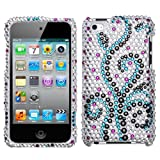 Frosty Diamante Protector Faceplate Cover For APPLE iPod touch(4th generation)