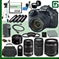 Canon EOS 7D Digital SLR Camera Kit with 18-135mm IS Lens and Canon 18-55mm Lens and Canon 55-250mm Lens and Canon 50mm f/1.8 Lens and Canon EF 75-300mm III Lens + 32GB Green's Camera Package 2