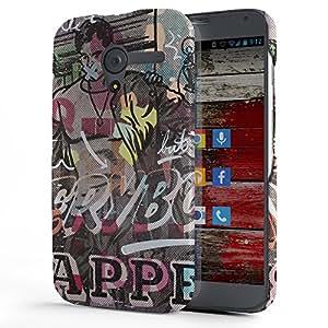 Koveru Designer Printed Protective Snap-On Durable Plastic Back Shell Case Cover for Motorola Moto X - Bully Guy