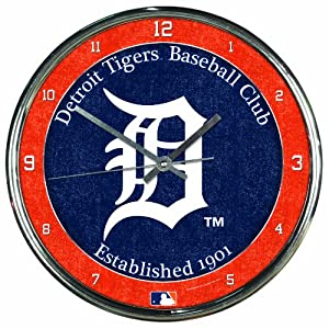 MLB Detroit Tigers Chrome Clock by WinCraft