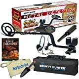 "Bounty Hunter Quick Draw II Metal Detector W/8"" Open Waterproof Coil, Pinpointer, Headphones, Carry Bag, Treasure Pouch & Trowel"
