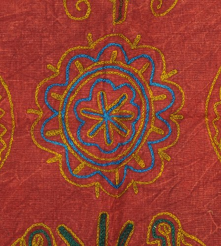 Imagen 4 de Wall Hanging tapiz decorativo indio con tamaño de trabajo elefante bordado 35 x 22 pulgadas