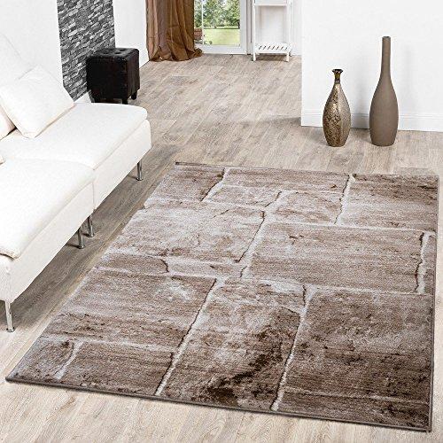Tappeto per pavimenti in pietra, effetto marmo, design moderno, tappeto da salotto marrone, ottimo prezzo, marrone, 80 x 150 cm