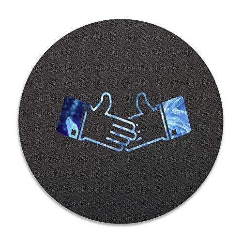 CVB DOORMAT Crystal Shake Hands Non-slip Doormat White