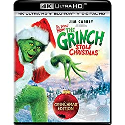 Dr. Seuss' How The Grinch Stole Christmas [4K Ultra HD + Blu-ray]