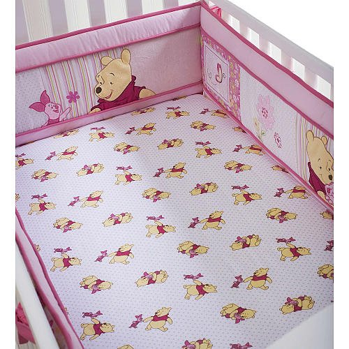 How to get Disney so Sweet Pooh Fitted Crib Sheet White/pink sale