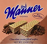 Manner Wafers Chocolate - 2.54 oz. - 12ct.