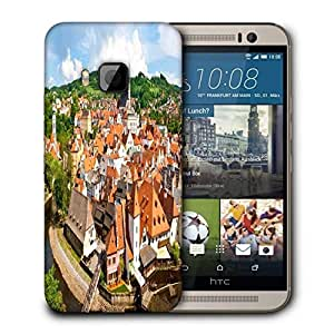 Snoogg Orange Roof Printed Protective Phone Back Case Cover For HTC One M9