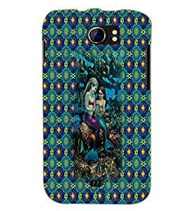 PrintDhaba Mermaids D-5703 Back Case Cover for MICROMAX A110Q CANVAS 2 PLUS (Multi-Coloured)