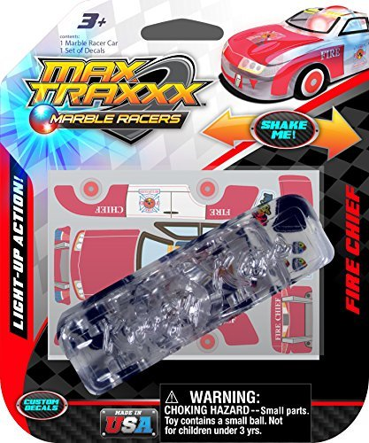 Max Traxxx Fire Chief Light Up Marble Racer Car