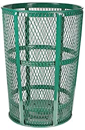 Witt Industries EXP-52GN Steel 48-Gallon Outdoor Waste Receptacle, Round, 23\