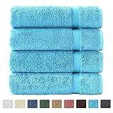 """27""""x54"""" 4 pc Luxury Bath Towels (Aqua)"""