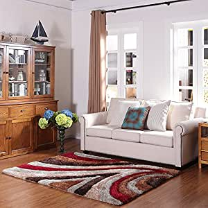 Ustide beautiful high pile 3d carpet for for Living room rugs amazon