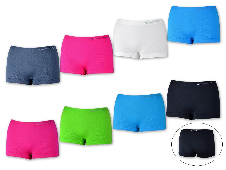 5, 10, 20 oder 30 Stück Damen Pantys Hotpants Panties Hipster Slips Hot Pants Microfaser - Schwarz Weiß Rot Grün Blau Pink - Krone