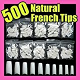 CyberStyle 500 White False French Nail Art Tips Uv Acrylic False Nail Tips (Color: White)