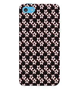 EPICCASE funky flowers Mobile Back Case Cover For Apple iPhone 5c (Designer Case)