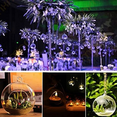 Hanging Glass Candle Holder Crystal Candlestick Candelabrum Micro Landscape Bottle