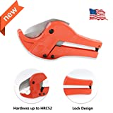 PVC Cutter Pipe Cutter, Tube Cutter for Cutting Less Than 1-1/2in(38mm) O.D. PEX, PVC, and PPR Pipe, Kinper Plastic Tubing Cutter Ideal for Plumbers, Home Handy Man and More