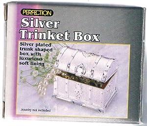 Silver Plated Treasure Chest Trinket Box