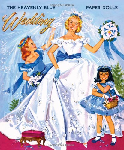 Heavenly Blue Wedding Paper Dolls