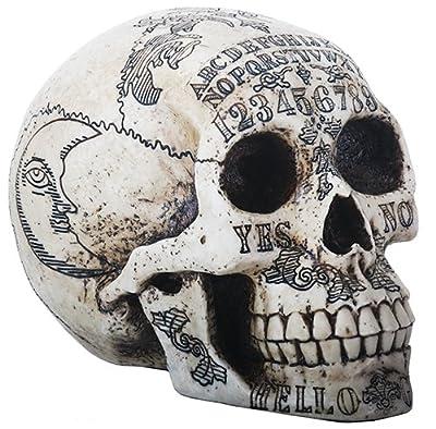 OUIJA Symbols Skull Skeleton Head Statue Figurine by ytc