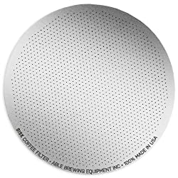 Able Brewing DISK Coffee Filter for AeroPress Coffee & Espresso Maker - stainless steel reusable- made in USA from Able Brewing Equipment