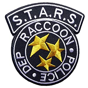 Resident Evil S.T.A.R.S. Raccoon Police Blk Logo PATCH