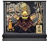 五月人形 織田信長 兜ケース飾り 兜飾り 宝童監修 織田家紋兜 12号 h285-mm-145