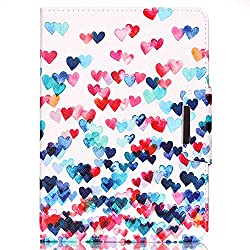 iPad Air 2 Case,Veggzy® [360 Degree Protection][Love Heart] Slim Flip Folio PU Leather Wallet Stand Smart Protective Cover with Card Slots,Pocket for Apple iPad Air 2/iPad 6th Generation 9.7 inch