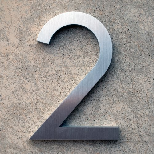 Modern House Number Aluminum Contemporary Font Number Four