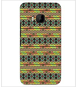 PrintDhaba Pattern D-5234 Back Case Cover for HTC ONE M9 (Multi-Coloured)