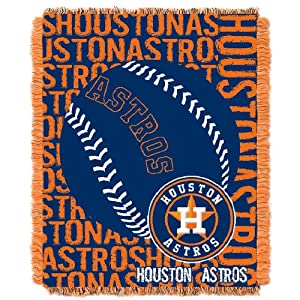 MLB Houston Astros 48 x 60-Inch Double Play Jacquard Triple Woven Throw by Northwest