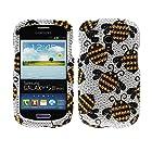 Fincibo (TM) Samsung Galaxy S III mini i8190 Bling Crystal Rhinestones Hard Snap On Protector Cover Case - Yellow Bees