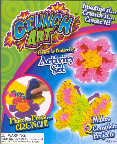 Little Kid's Crunch Art Flower and Butterfly Activity Set