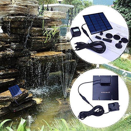 Solar Power Water Pump Panel Kit Fountain Pool Garden Pond Submersible Watering (Solar Panel Pond Heater compare prices)
