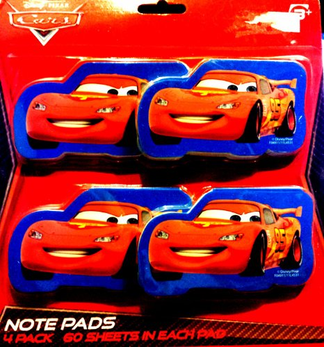 Disney Cars 2 Note Pads Memo Birthday Party Favors (Pack of 4) - 1