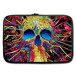 Sugar Skull Twin Sides Laptop Sleeve / Laptop Bag / Laptop Cover / Laptop Sleeve Macbook Air For MacBook Pro 17