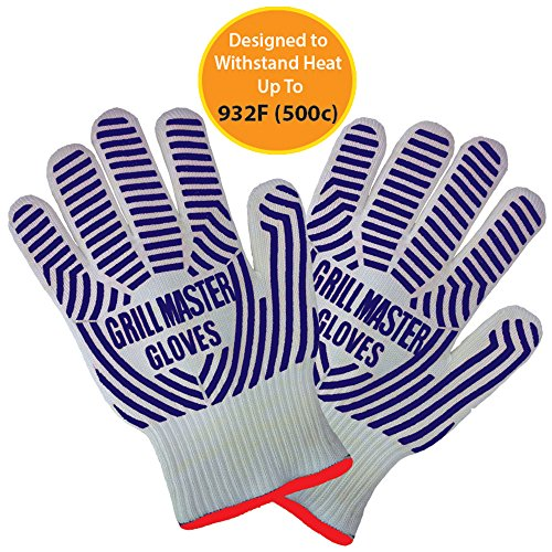 Grill Master Grilling Gloves Oven Gloves Heat Resistant and Certified to 932°F Great as Smoking Gloves Ideal as Hot Mitts or Use with Dutch Oven Lifter (Dutch Oven Smoker compare prices)