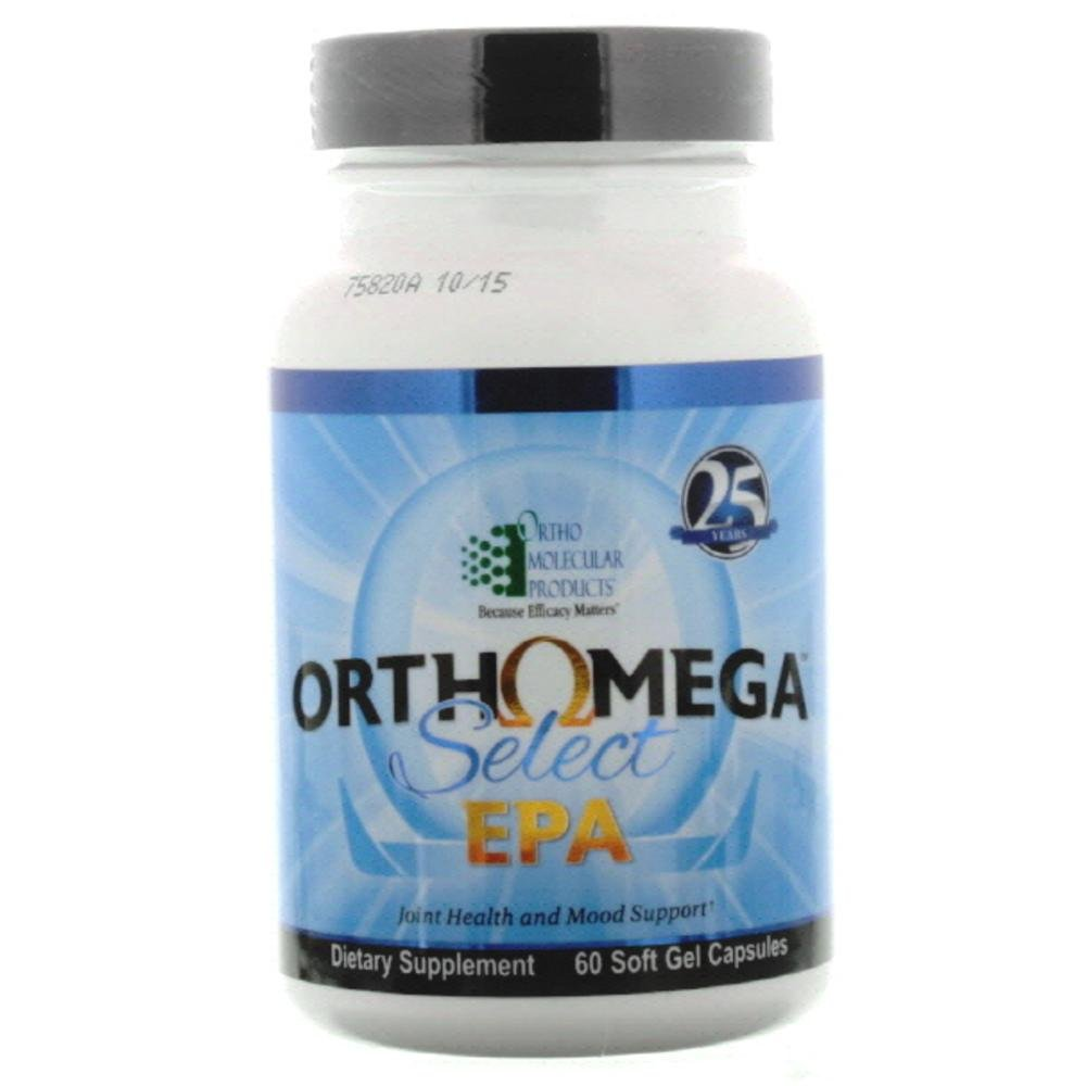 Orthomega Select EPA 60 Soft Gel Capsules by Ortho Molecular Products by health 1220mg 60